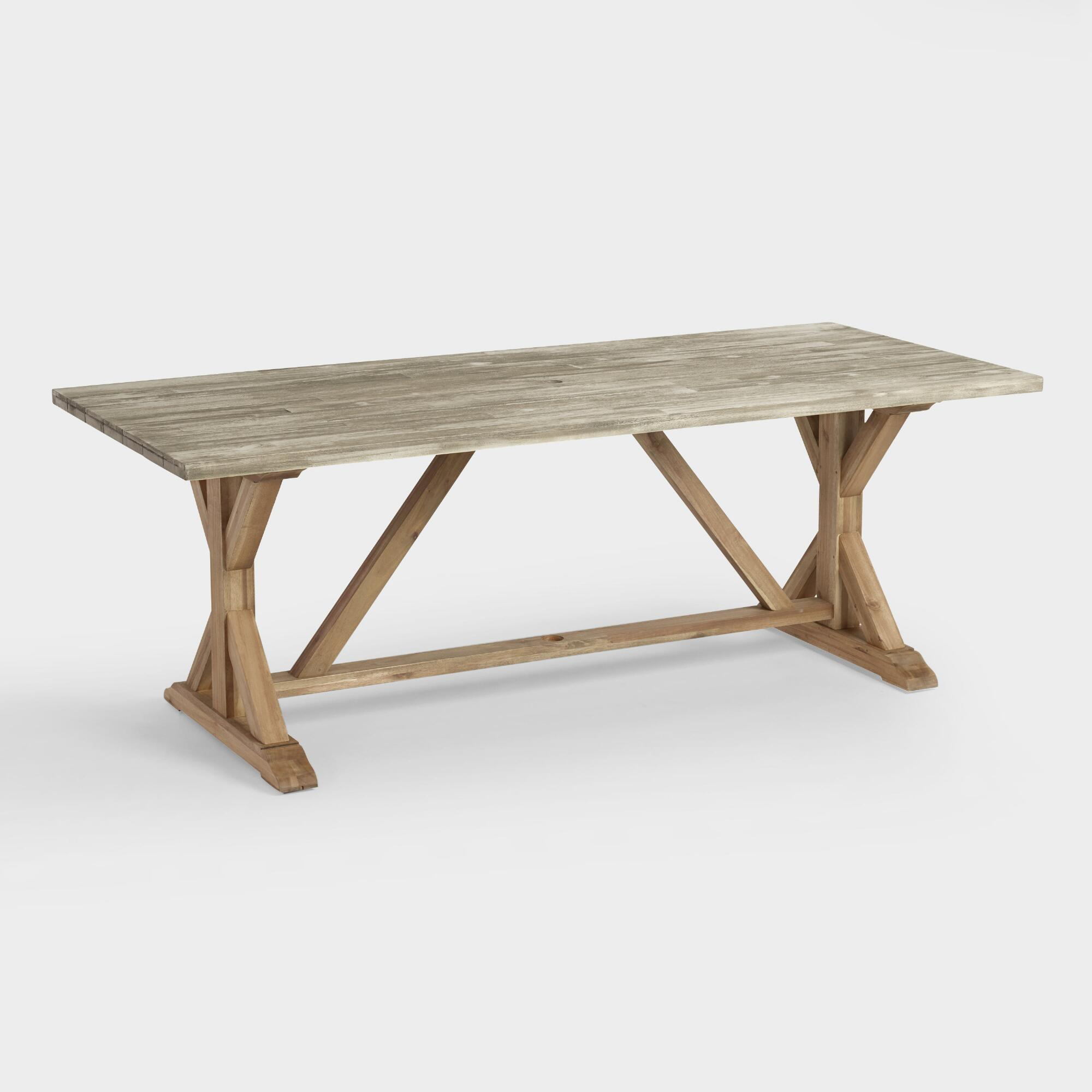 Two Tone Wood San Remo Outdoor Patio Trestle Dining Table  : Two Tone Wood San Remo Outdoor Patio Trestle Dining Table Gray by World Market from homebop.com size 2000 x 2000 jpeg 144kB