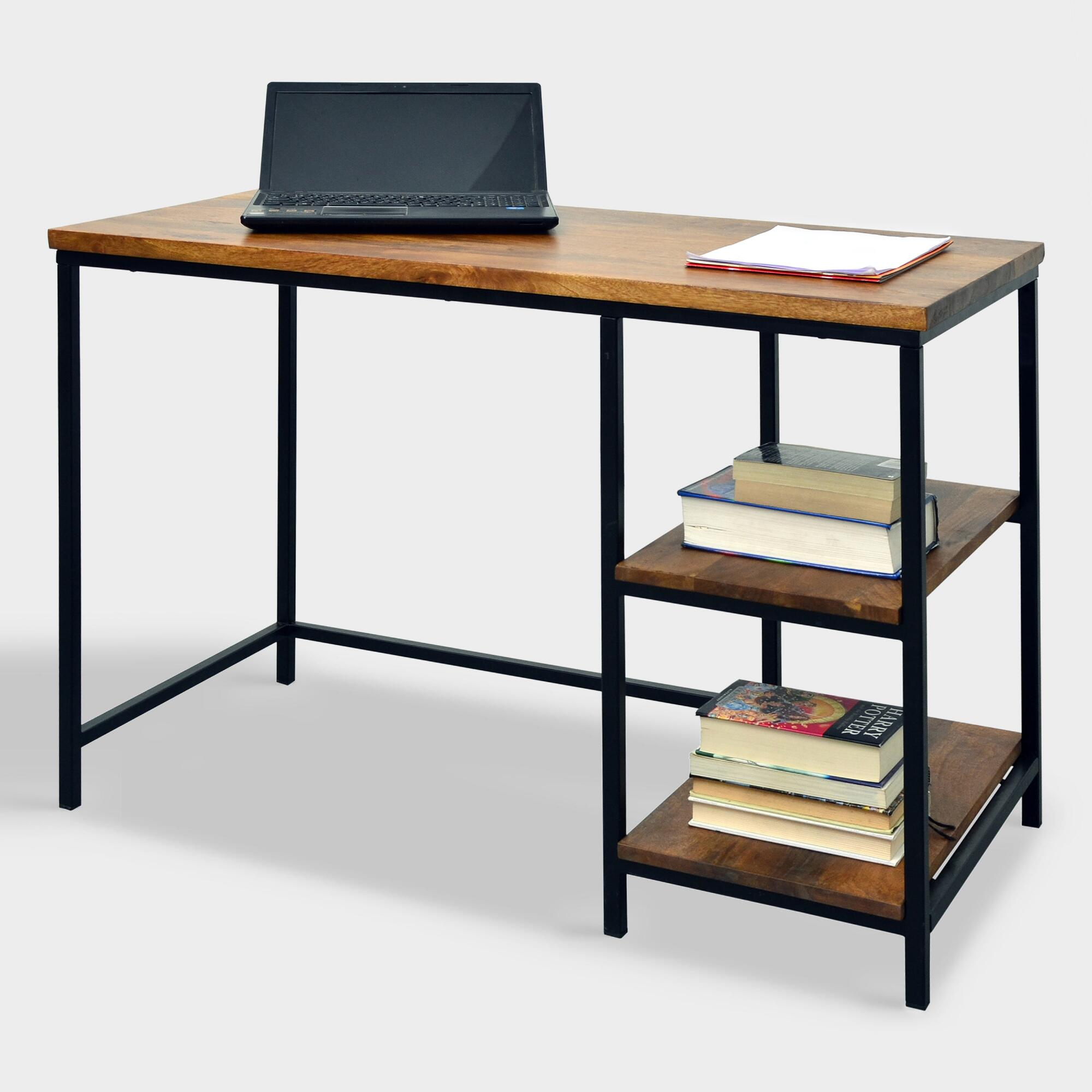 Wood and Metal Williard Desk by World Market Homebop