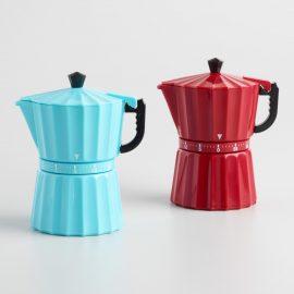 Espresso Maker Kitchen Timers Set of 2: Metallic by World Market
