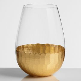 Gold Stemless Wine Glasses Set of 4 by World Market