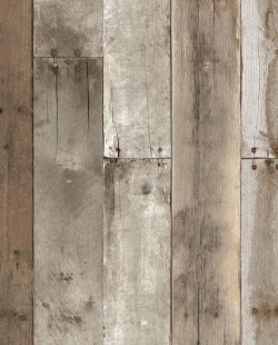 Repurposed Wood Weathered Removable Wallpaper