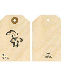 Woodwork Gift Tags - Mushroom