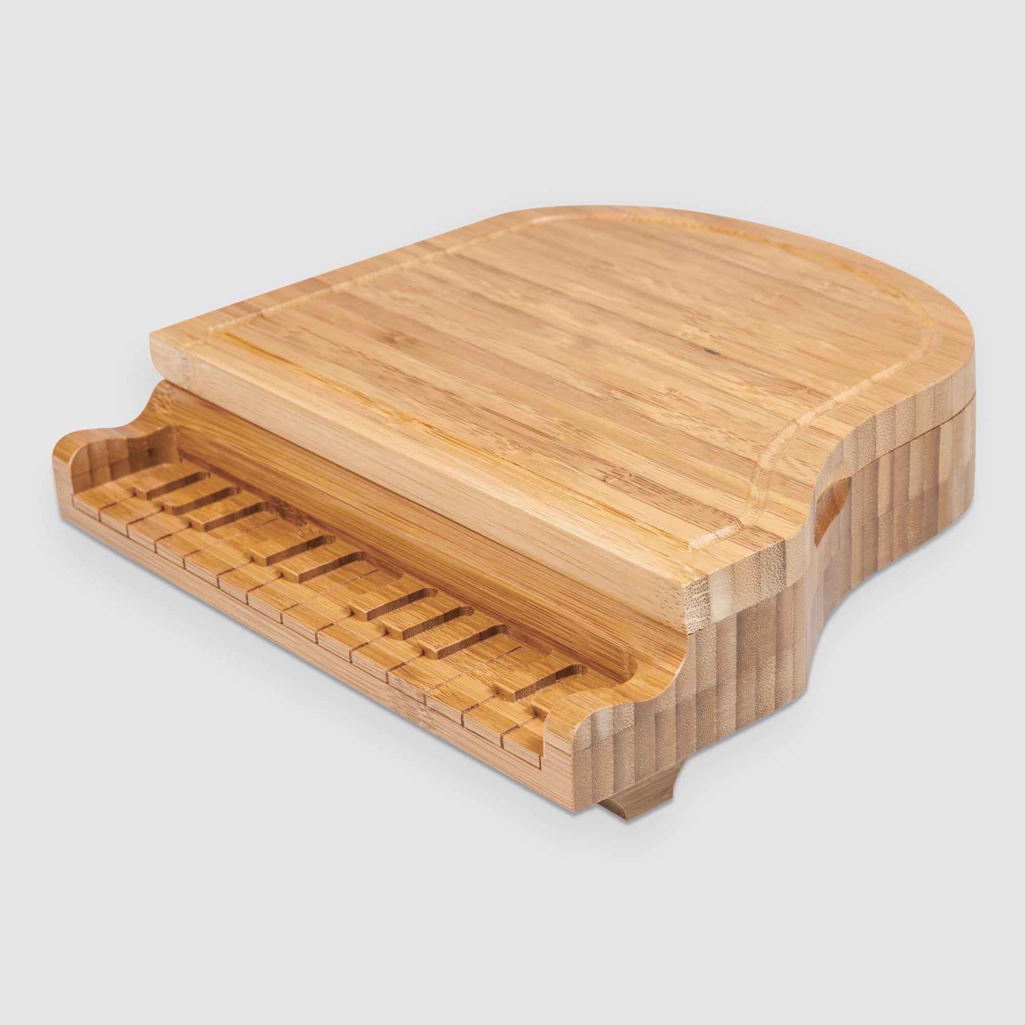Bamboo Grand Piano Cheese Board Set by World Market
