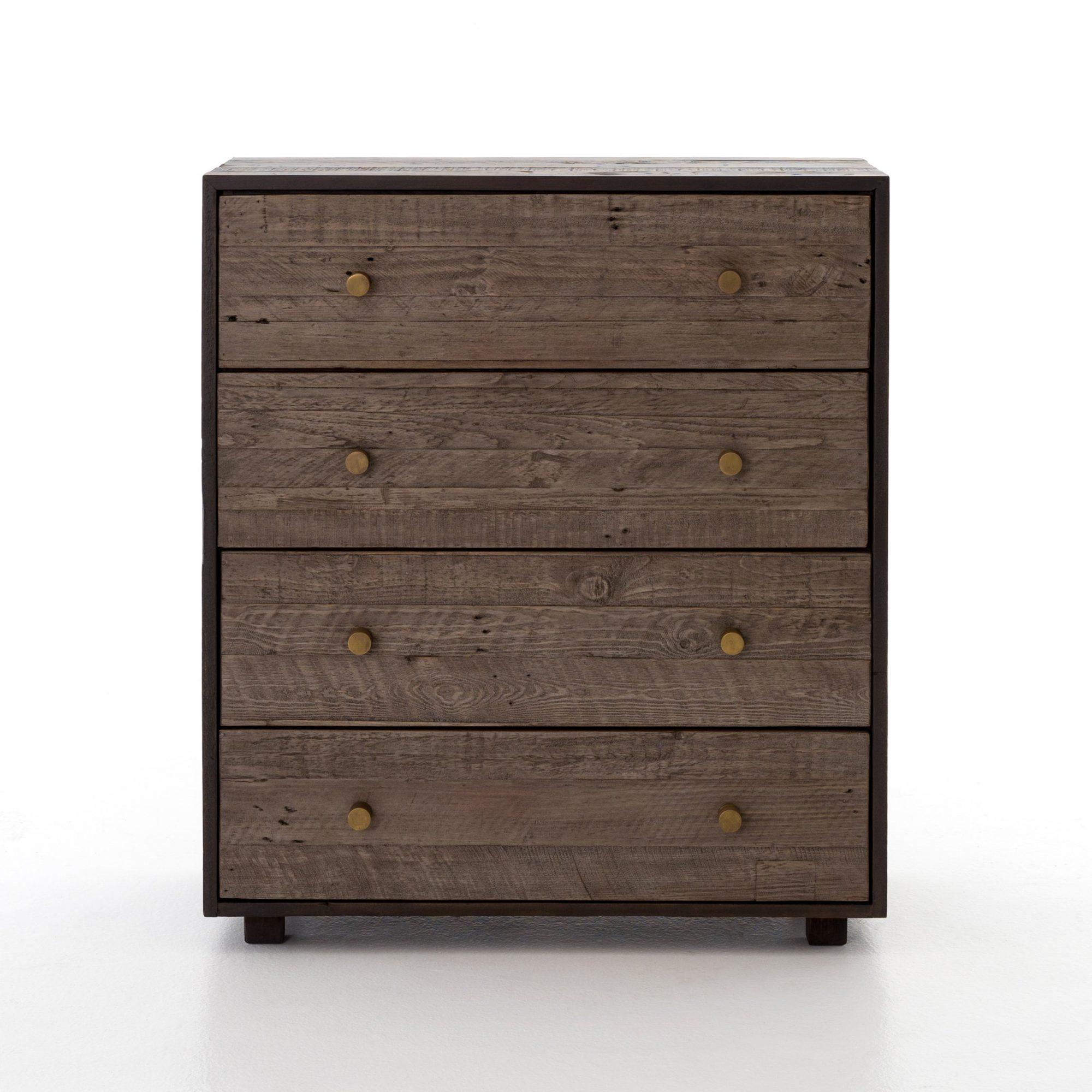 Calais 4 Drawer Dresser in Rustic Brown