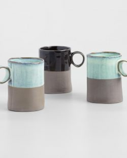 Dipped Organic-Style Mugs, Set of 3 by World Market
