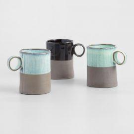 Dipped Organic-Style Mugs, Set of 3 by World Market