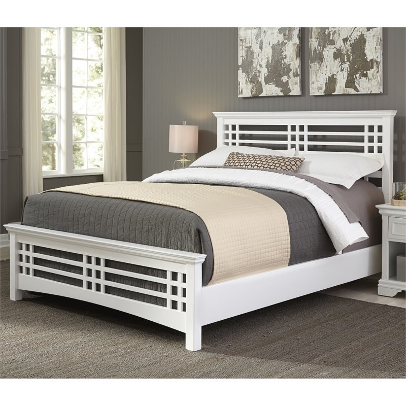 Fashion Bed Avery King Panel Bed in Cottage White