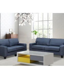 Jordan 2 Piece Living Room Set Upholstery: Blue