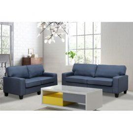 Jordan 2 Piece Living Room Set Upholstery: Blue