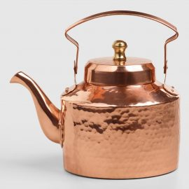 Mini Hammered Copper Teakettle by World Market
