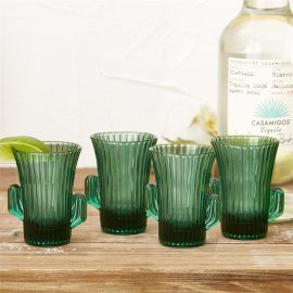 Set of 4 Cactus Shot Glasses design by Twos Company