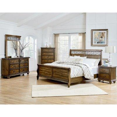 Troian Sleigh 5-Piece Bedroom Set Size: King