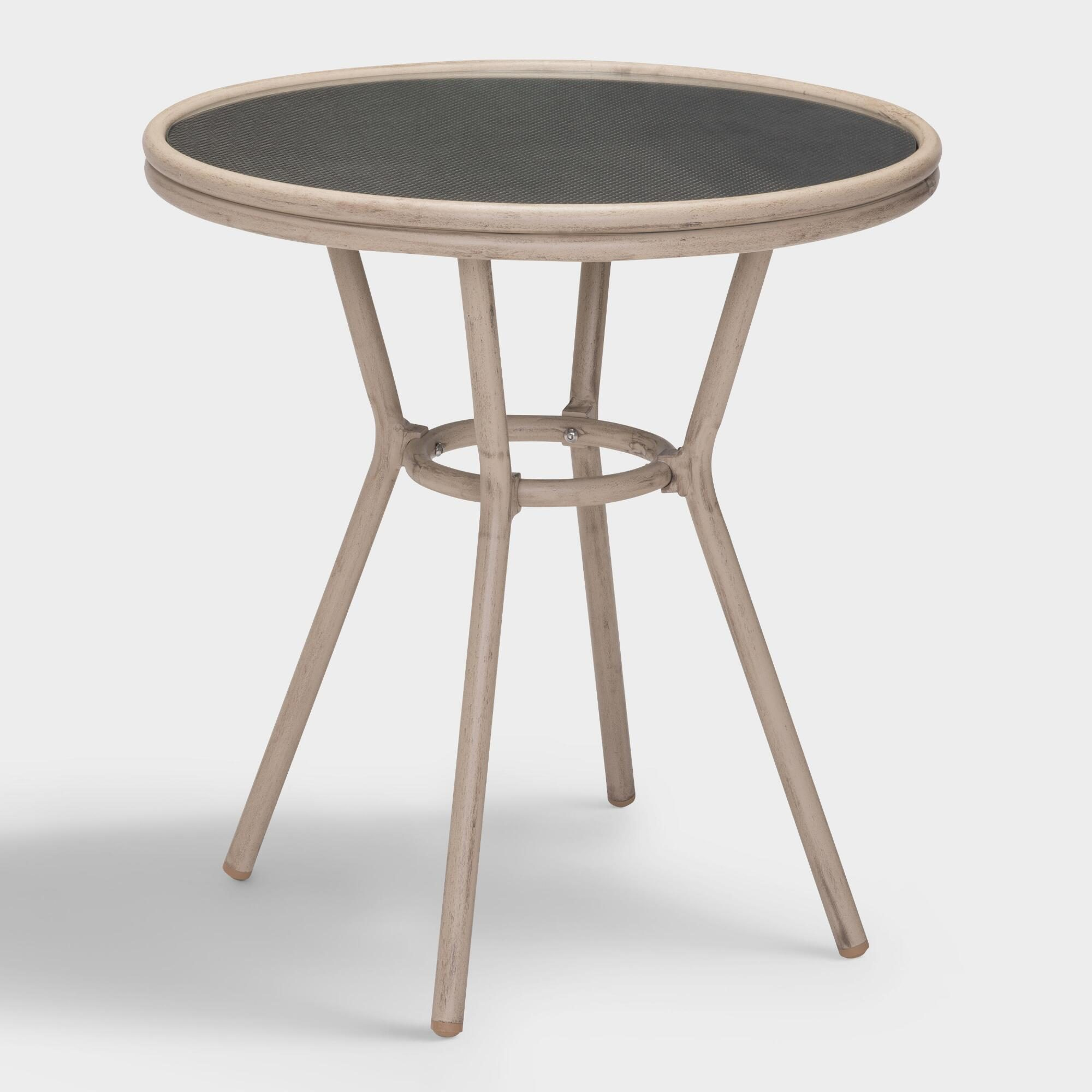 All Weather Wicker Elie Outdoor Patio Bistro Table: Brown - Resin by World Market