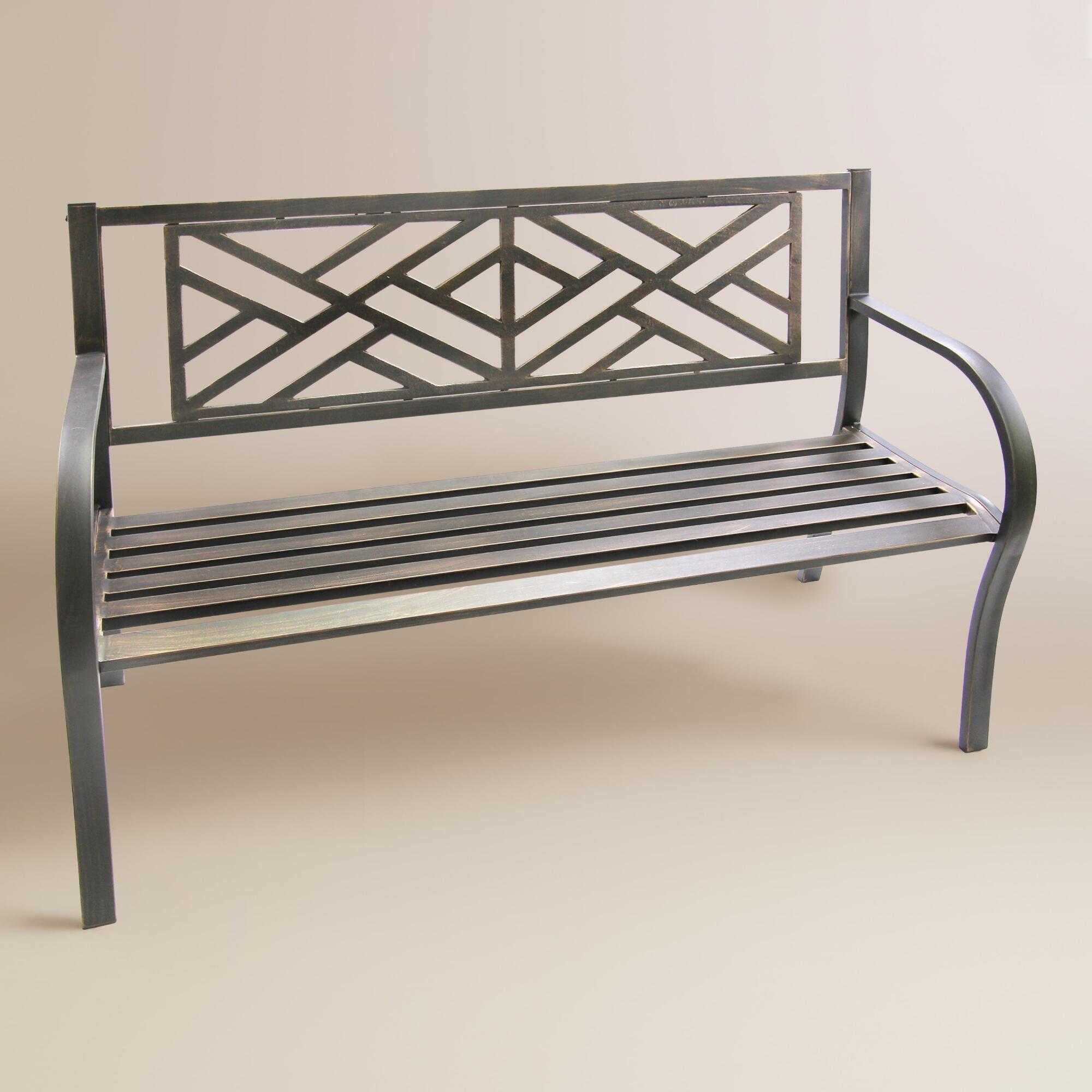 Black Maze Metal Bench by World Market