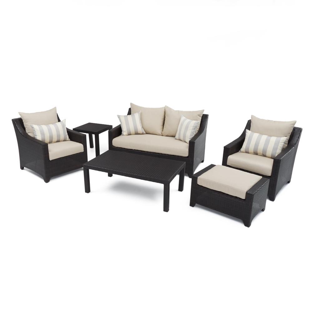 Deco™ 6pc Love and Club Seating Set - Slate Grey