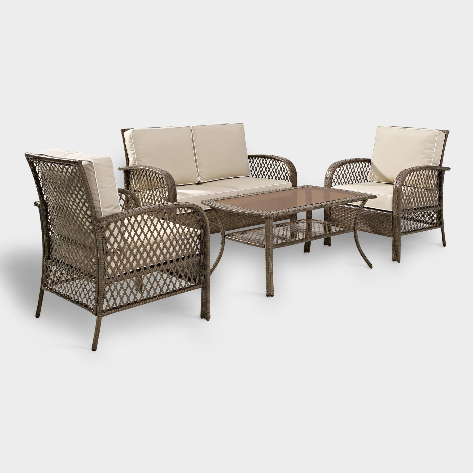 Driftwood All Weather 4 Piece Aviana Outdoor Patio Occasional Set by World Market