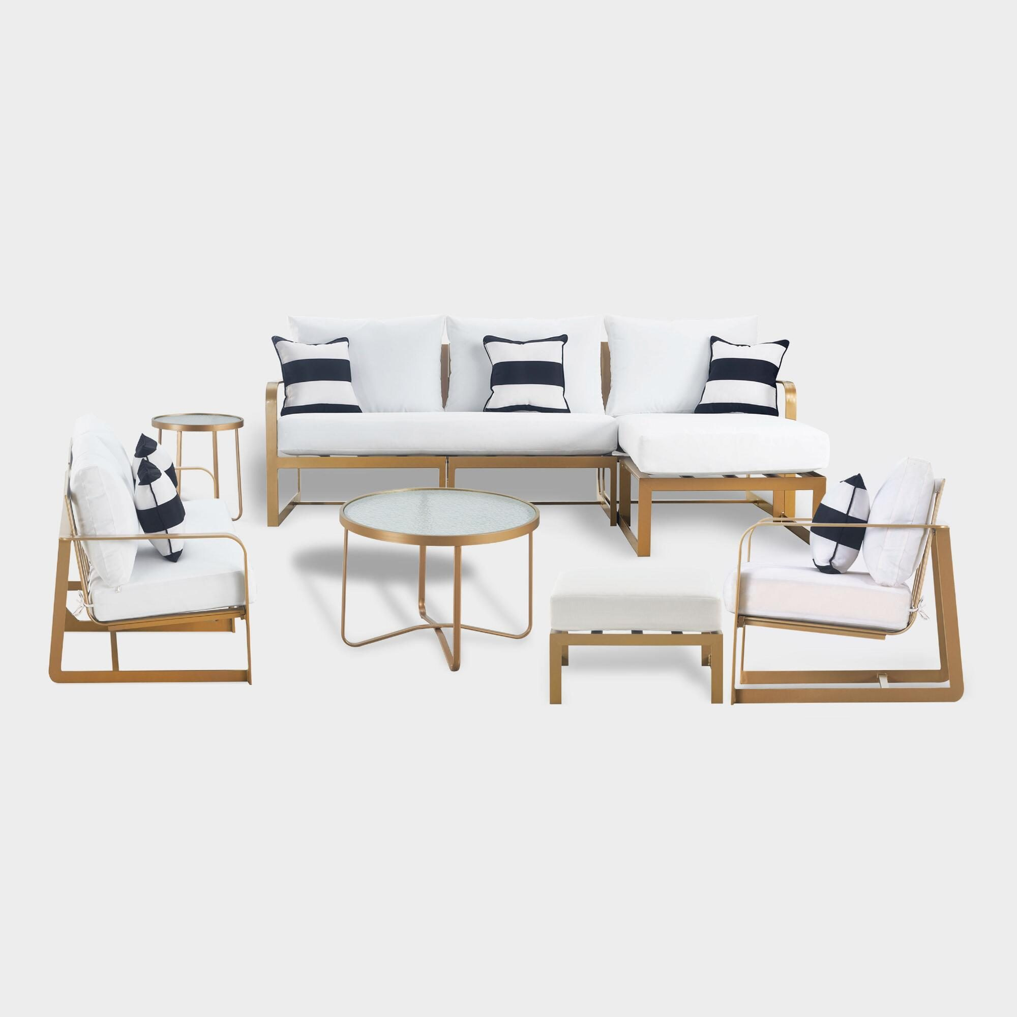 Gold Laila Outdoor Patio Occasional Collection by World Market