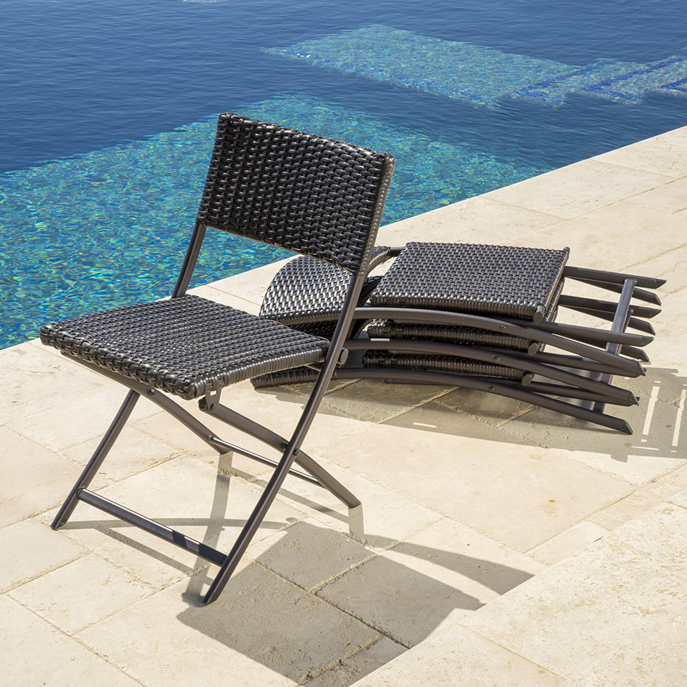 Portofino™ Comfort 4pk Woven Folding Chairs