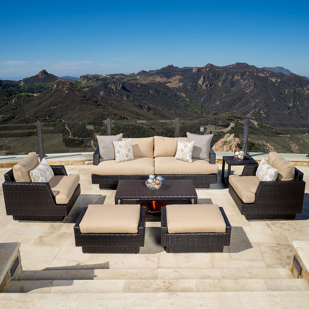 Portofino™ Comfort 7pc Deep Seating Set with Furniture Covers - Heather Beige