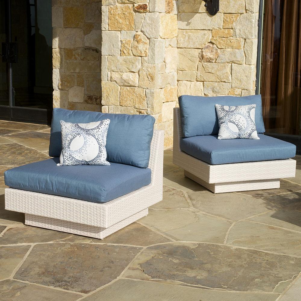 Portofino™ Comfort Armless Chairs - Newport Blue