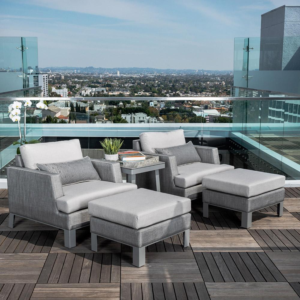 Portofino™ Sling 5pc Club Chair Set - Space Grey