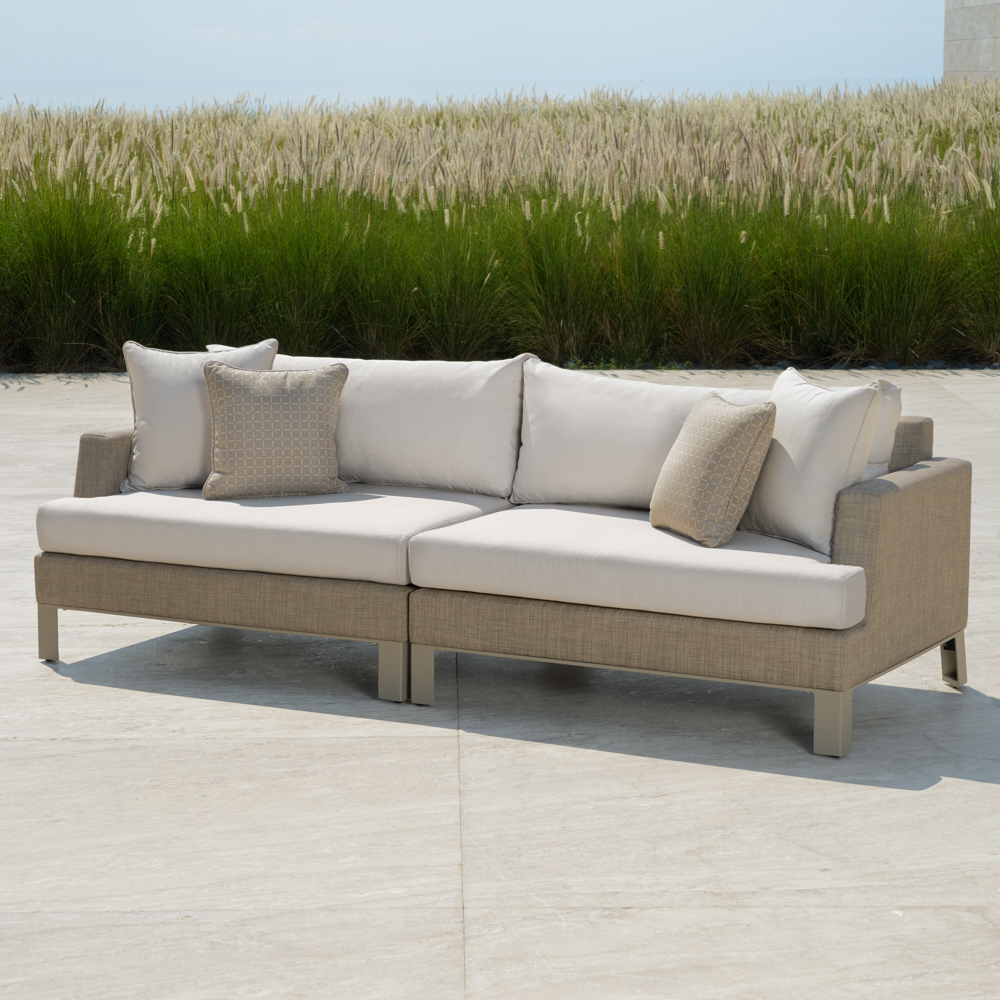 Portofino™ Sling 96in Sofa - Beige Fennel