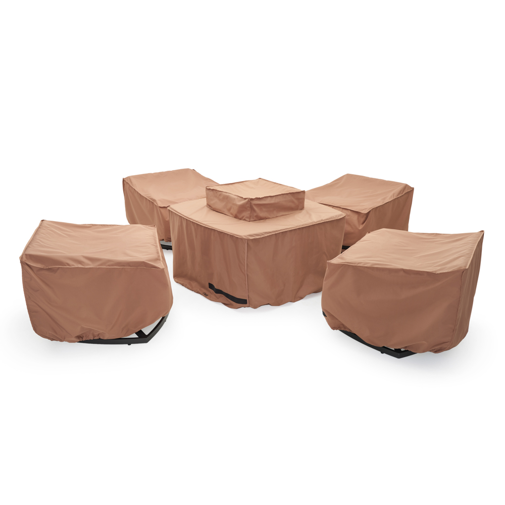 Vistano 5pc Fire Motion Fire Chat Set Furniture Covers
