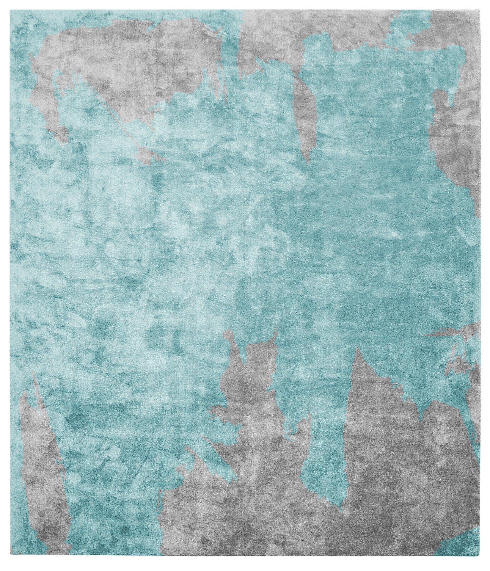 Action Caccia Hand Knotted Rug in Blue design by Second Studio