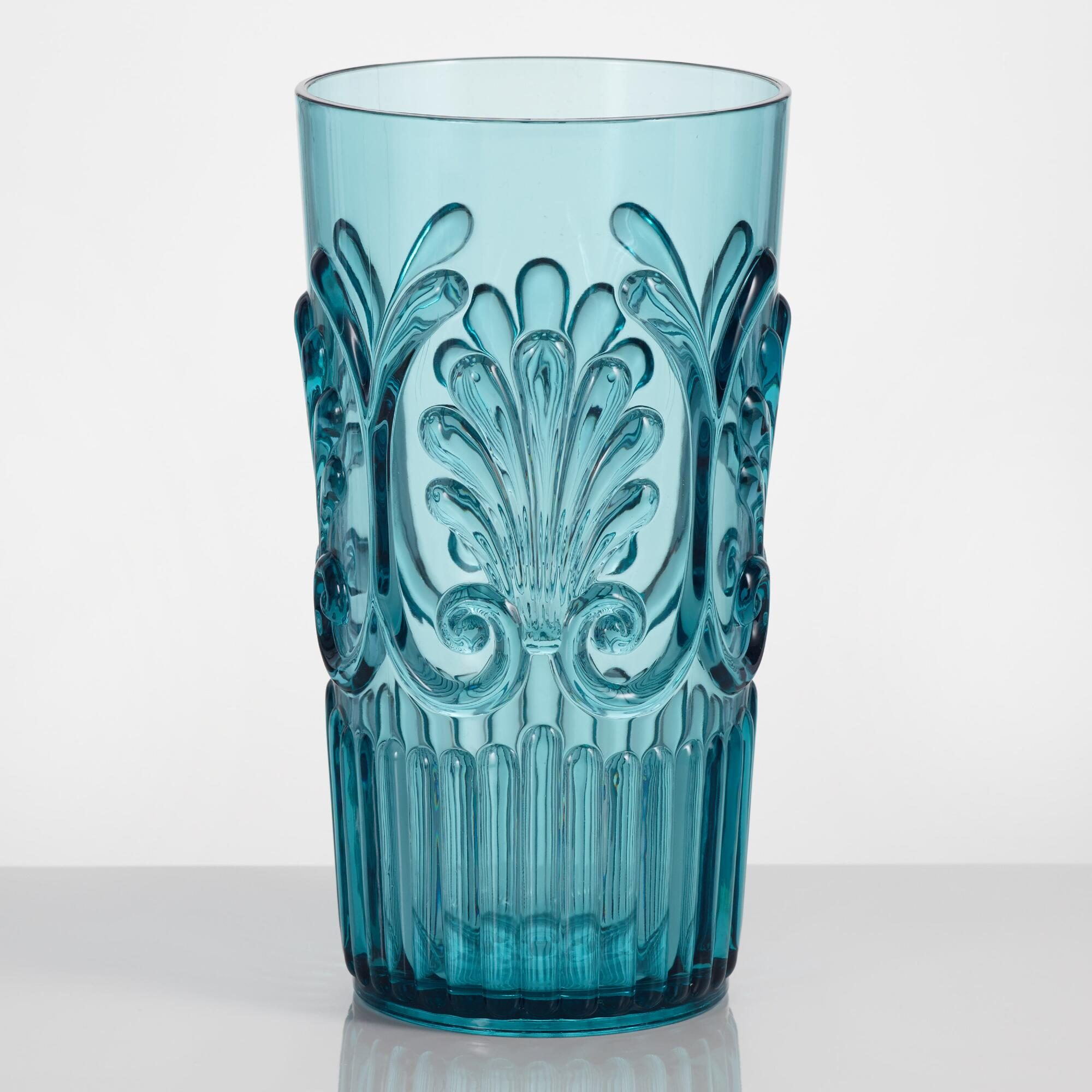 Aqua Pacific Acrylic Highball Glasses Set of 4: Blue/Green by World Market