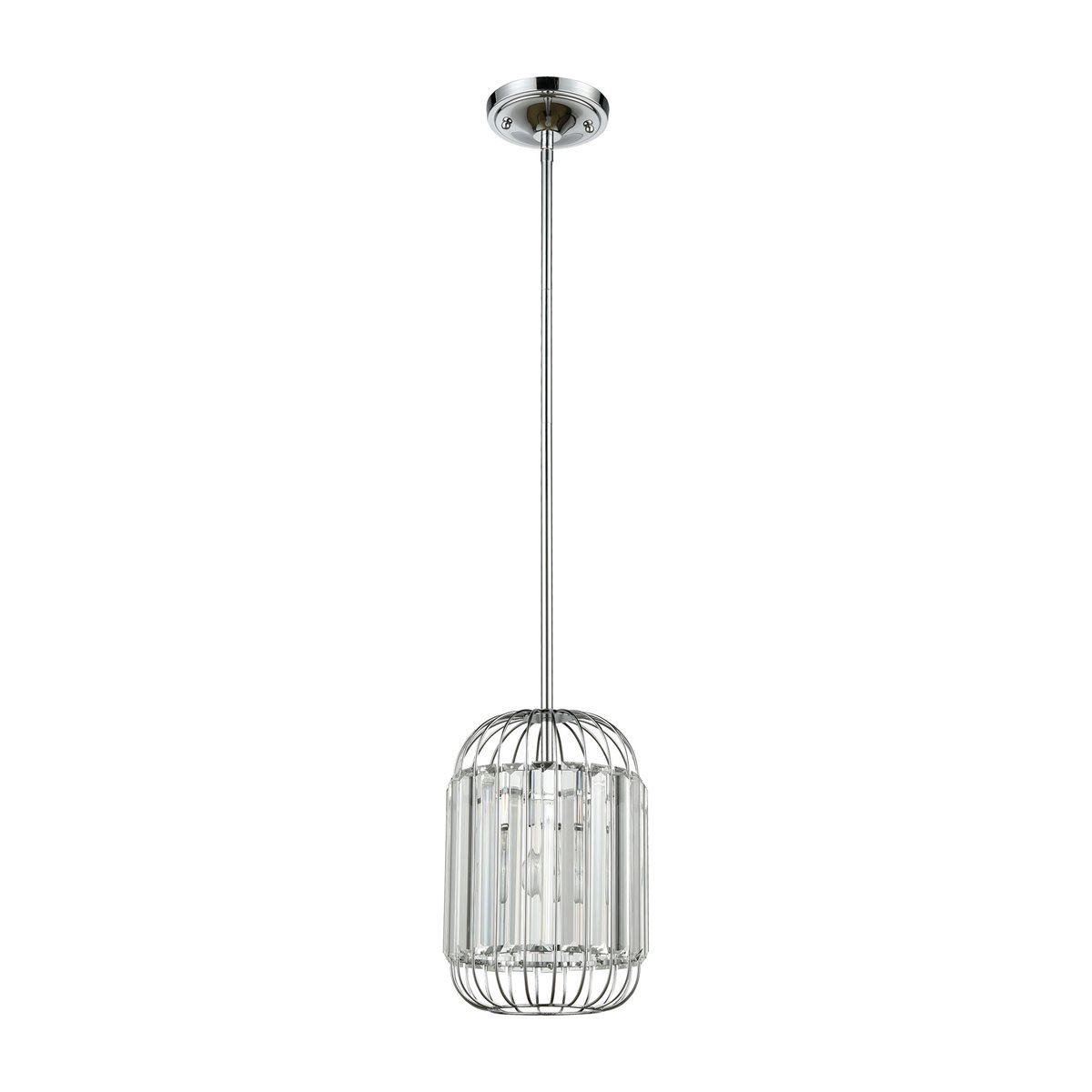 Beaumont 1 Pendant in Polished Chrome design by BD Fine Lighting