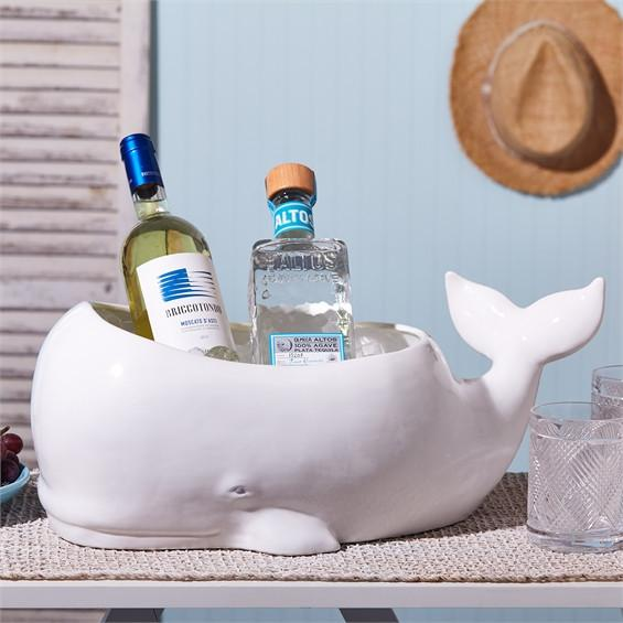 Beluga Whale Planter/Beverage and Ice Tub design by Twos Company