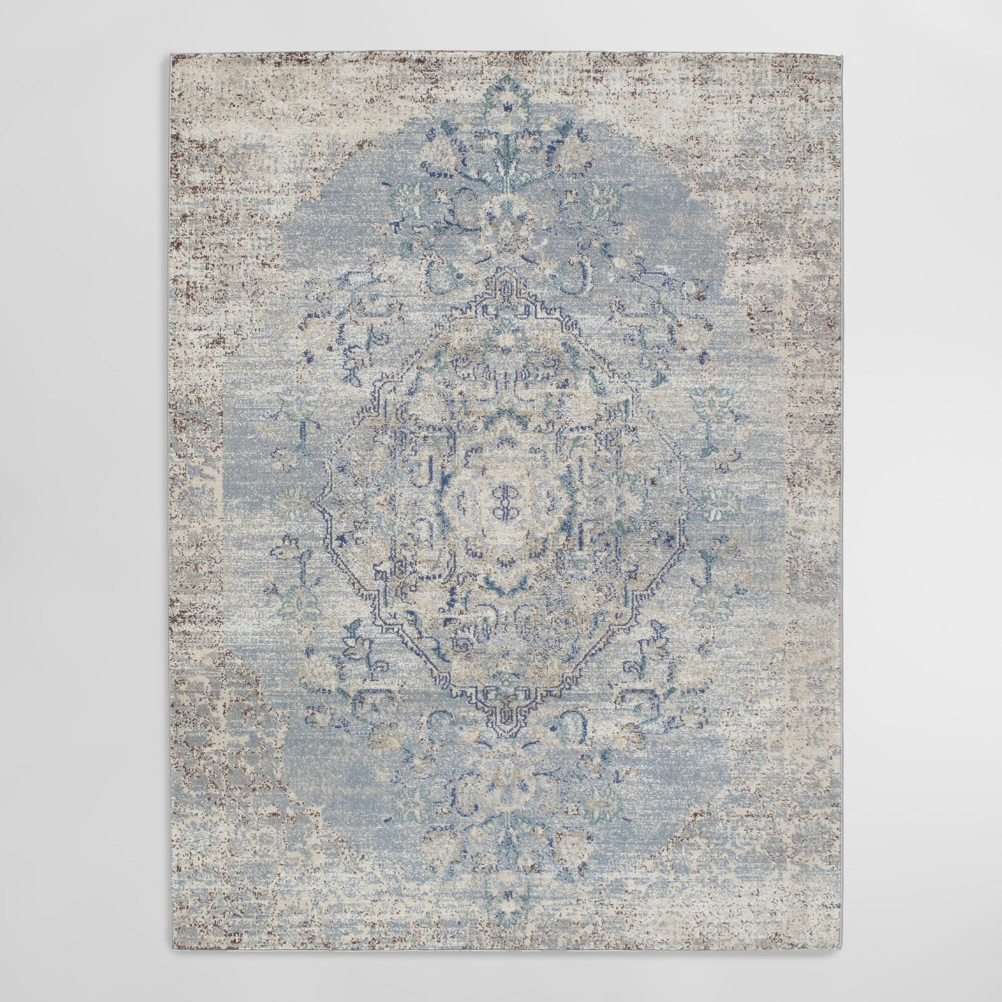 "Blue Nostalgia Area Rug - 3Ft11""x5Ft7"" by World Market 3Ft11""x5Ft7"""
