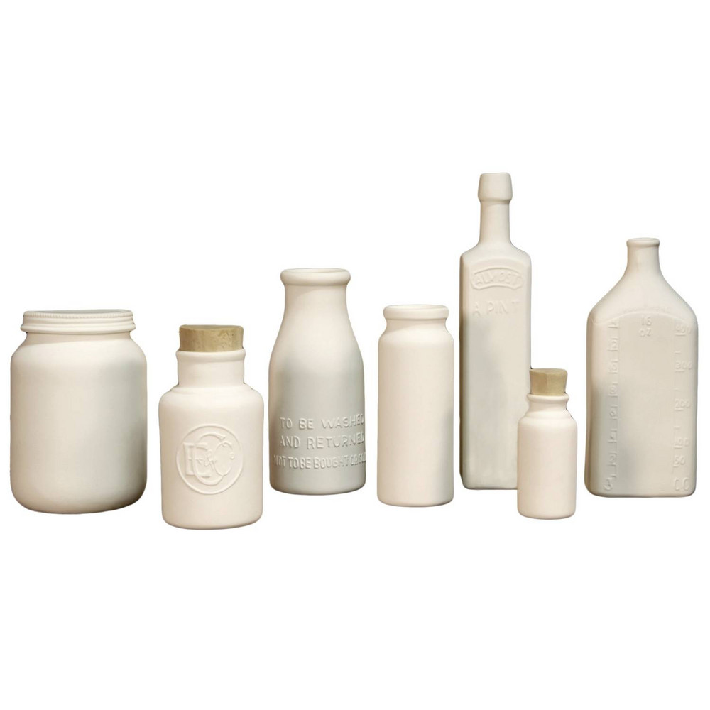 Bone China Collection of 7 Jars and Bottles