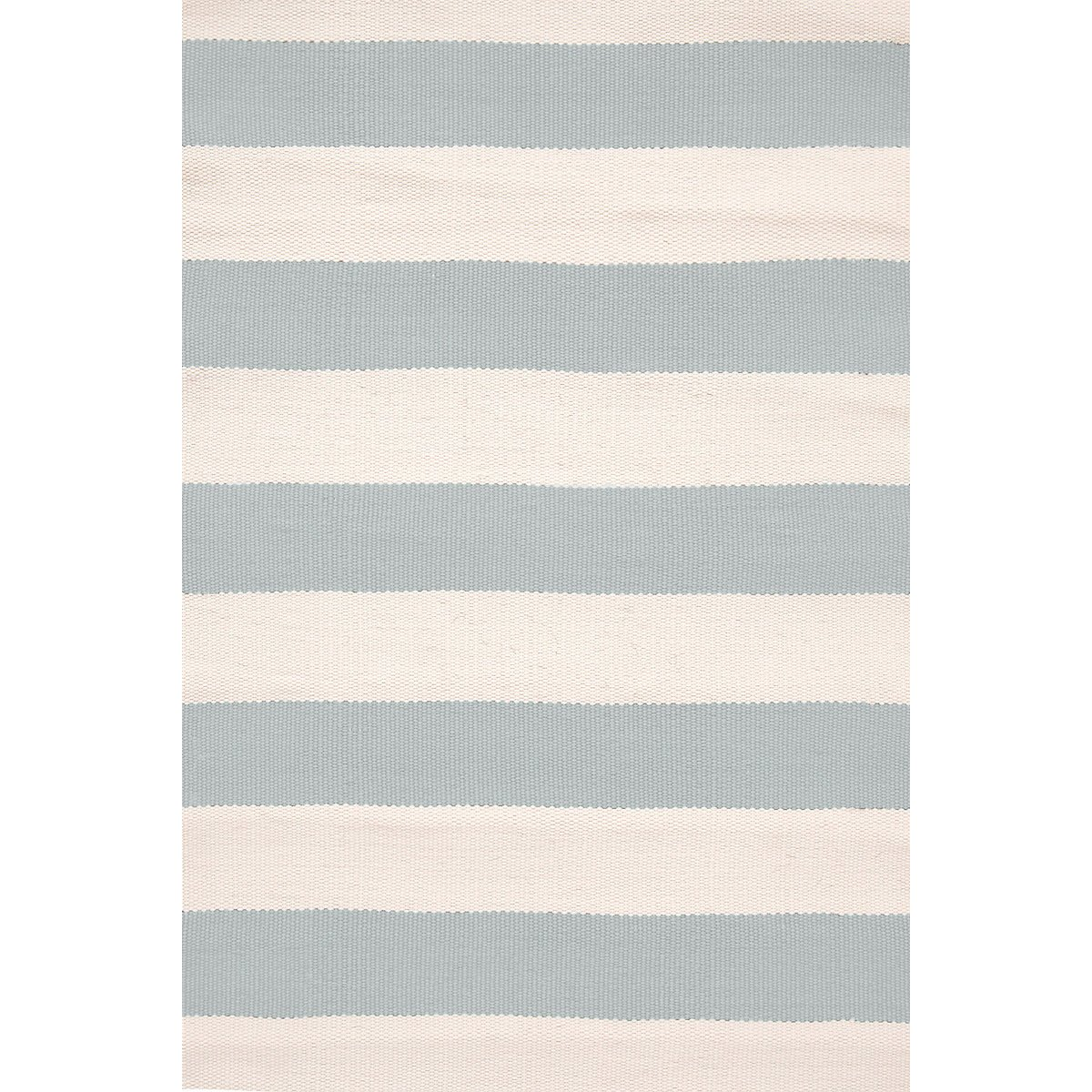 Catamaran Stripe Light Blue & Ivory Indoor/Outdoor Rug design by Dash & Albert