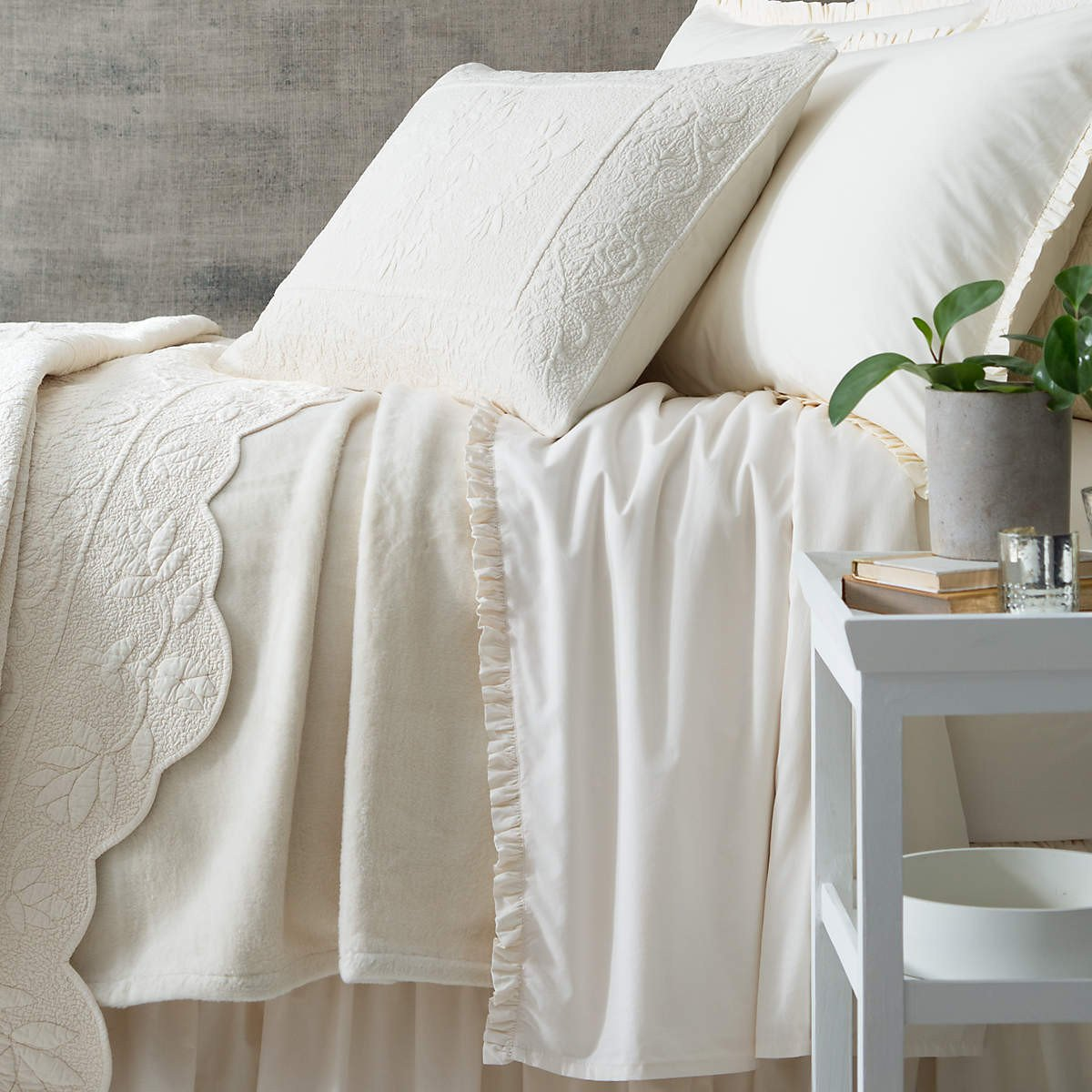 Dover Ivory Fleece Blanket design by Pine Cone Hill