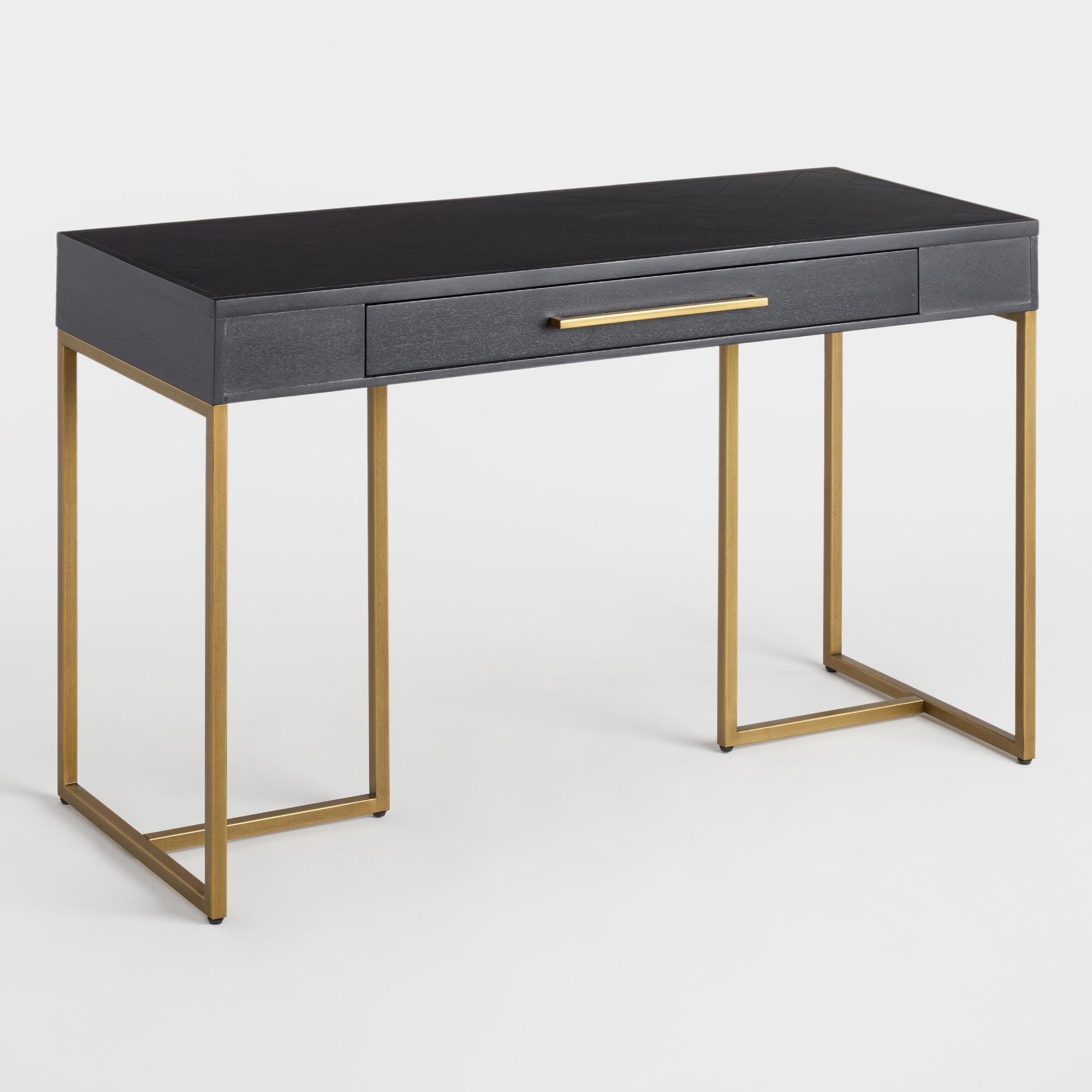 Herringbone Wood Wayde Desk by World Market