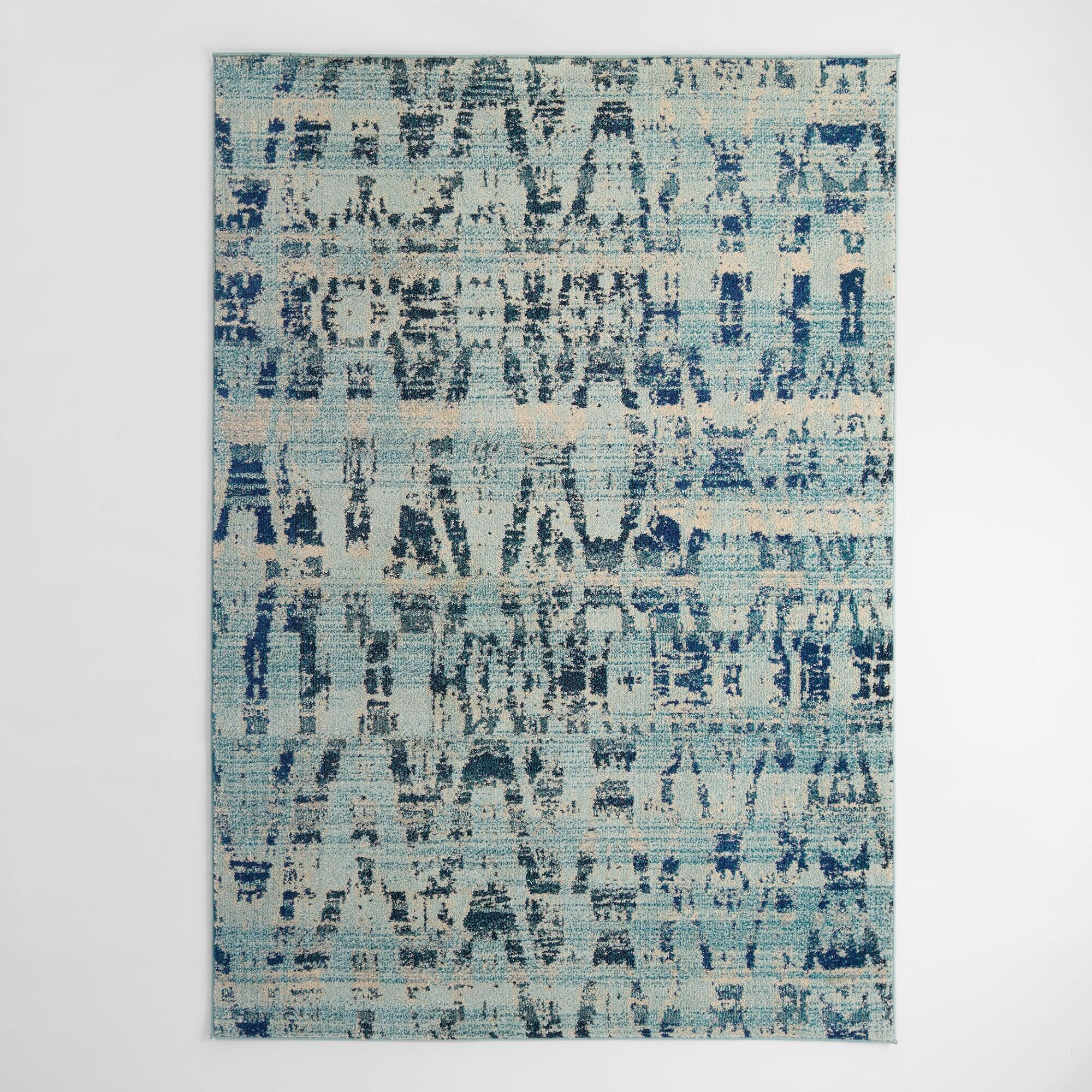 "High Tide Blue Area Rug - Polypropylene - 4' x 6' by World Market 3Ft11""x5Ft7"""