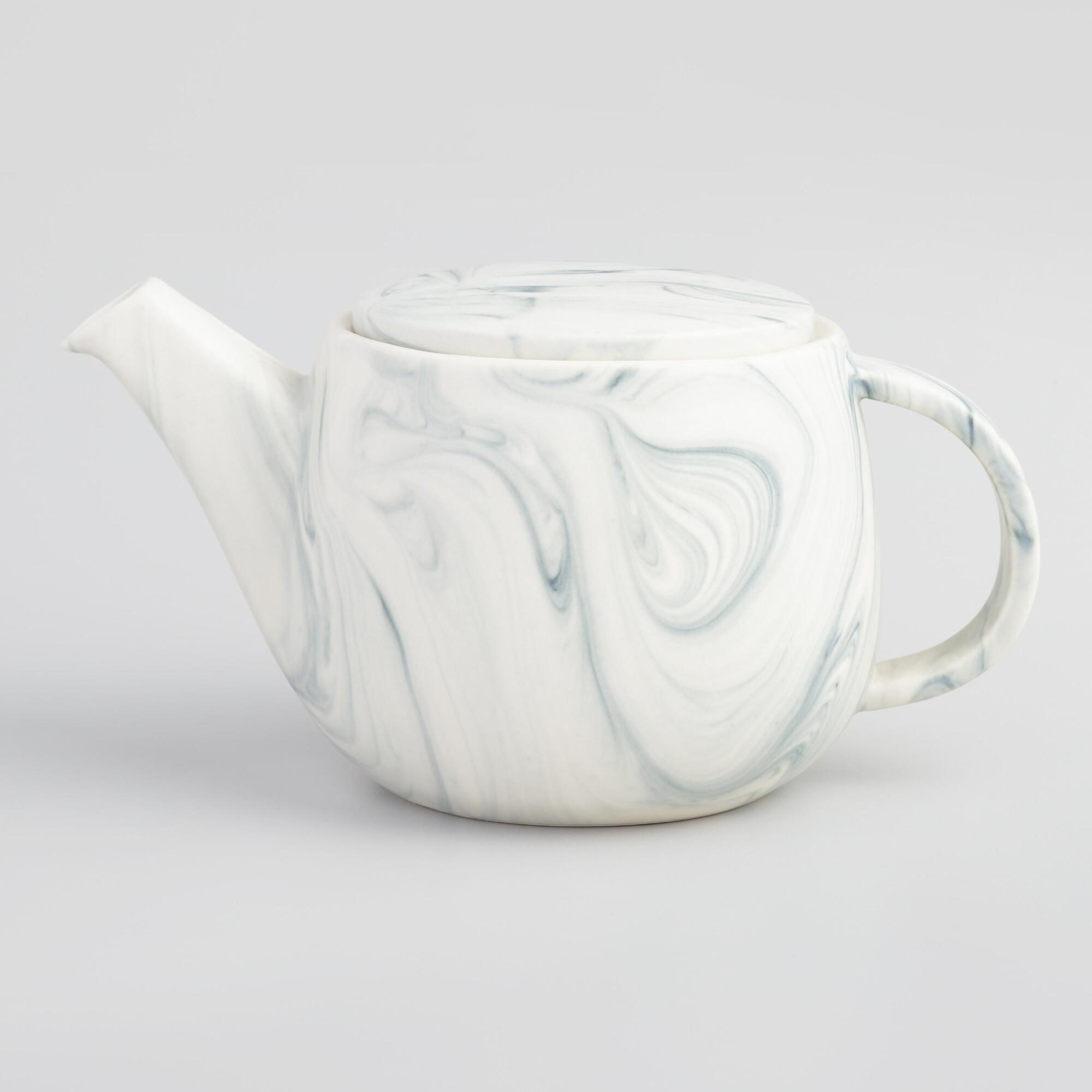 Marble Teapot: White by World Market