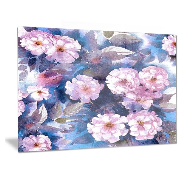 Phase1 Designart 'White Briar in Classical Style' Floral Metal Wall Art
