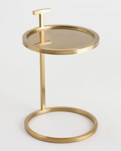Round Gold Metal Jonas Accent Table by World Market