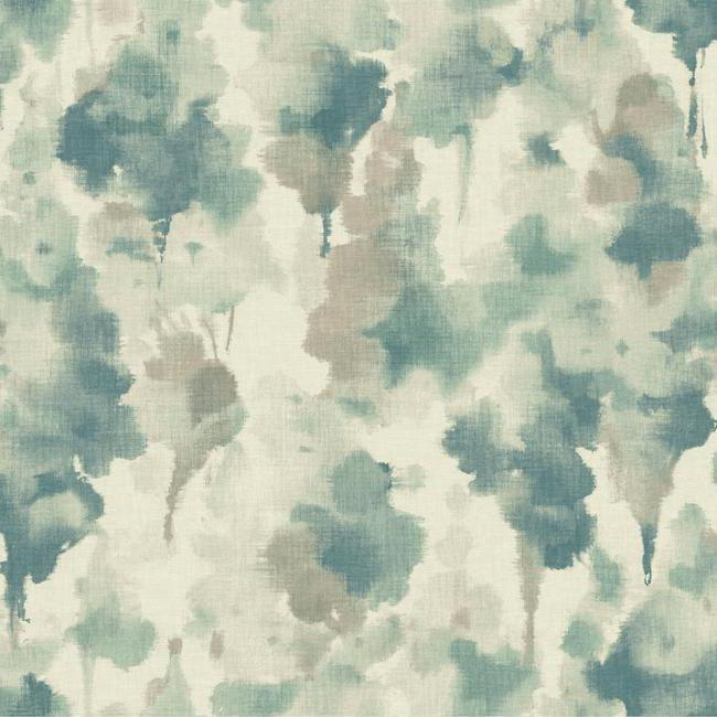 Sample Mirage Wallpaper in Blue and Grey design by Candice Olson for York Wallcoverings