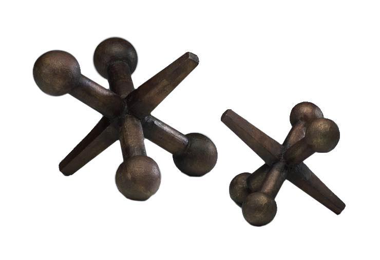 Set of 2 Jack Sculptures design by Cyan Design