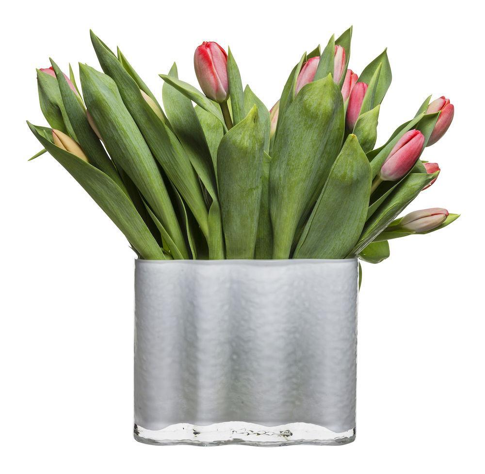 Short White Siluett Vase design by Sagaform