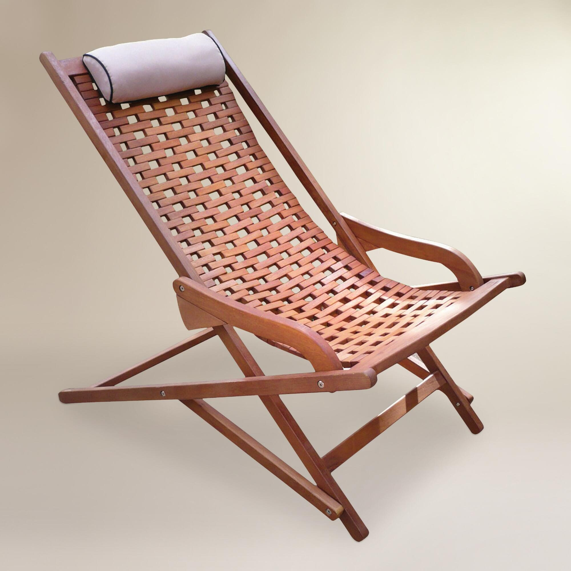 Wood Catania Swinger Lounger with Pillow: Brown by World Market