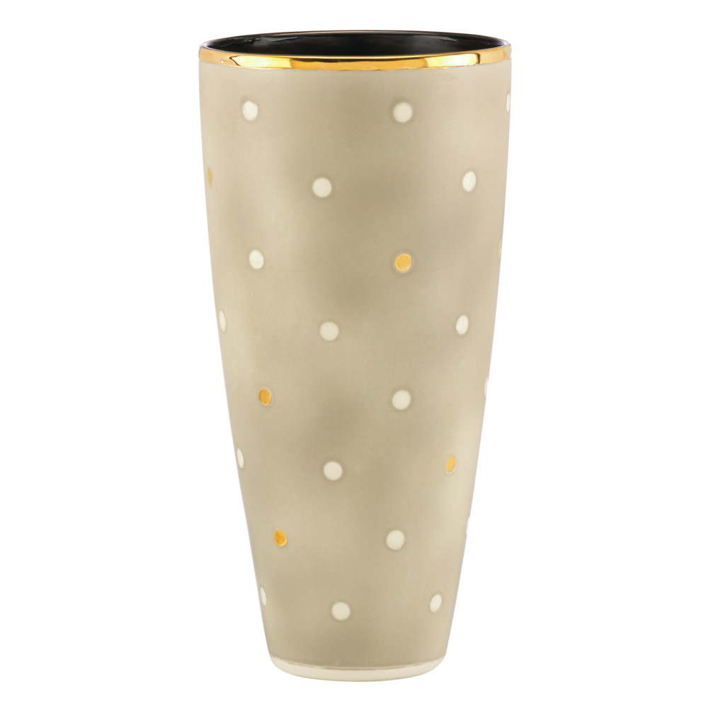 kate spade new york Sunset Large Vase - Grey Dot