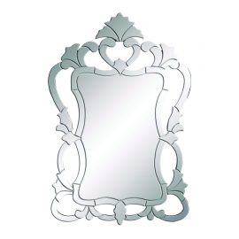 """Benzara 92504 Decorative 48""""H Wooden Wall Mirror with Solid Wooden Frame"""