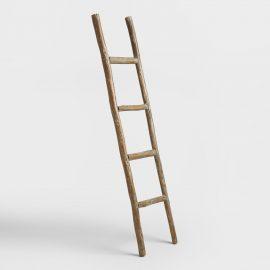 Decorative Eucalyptus Ladder: Natural - Wood by World Market