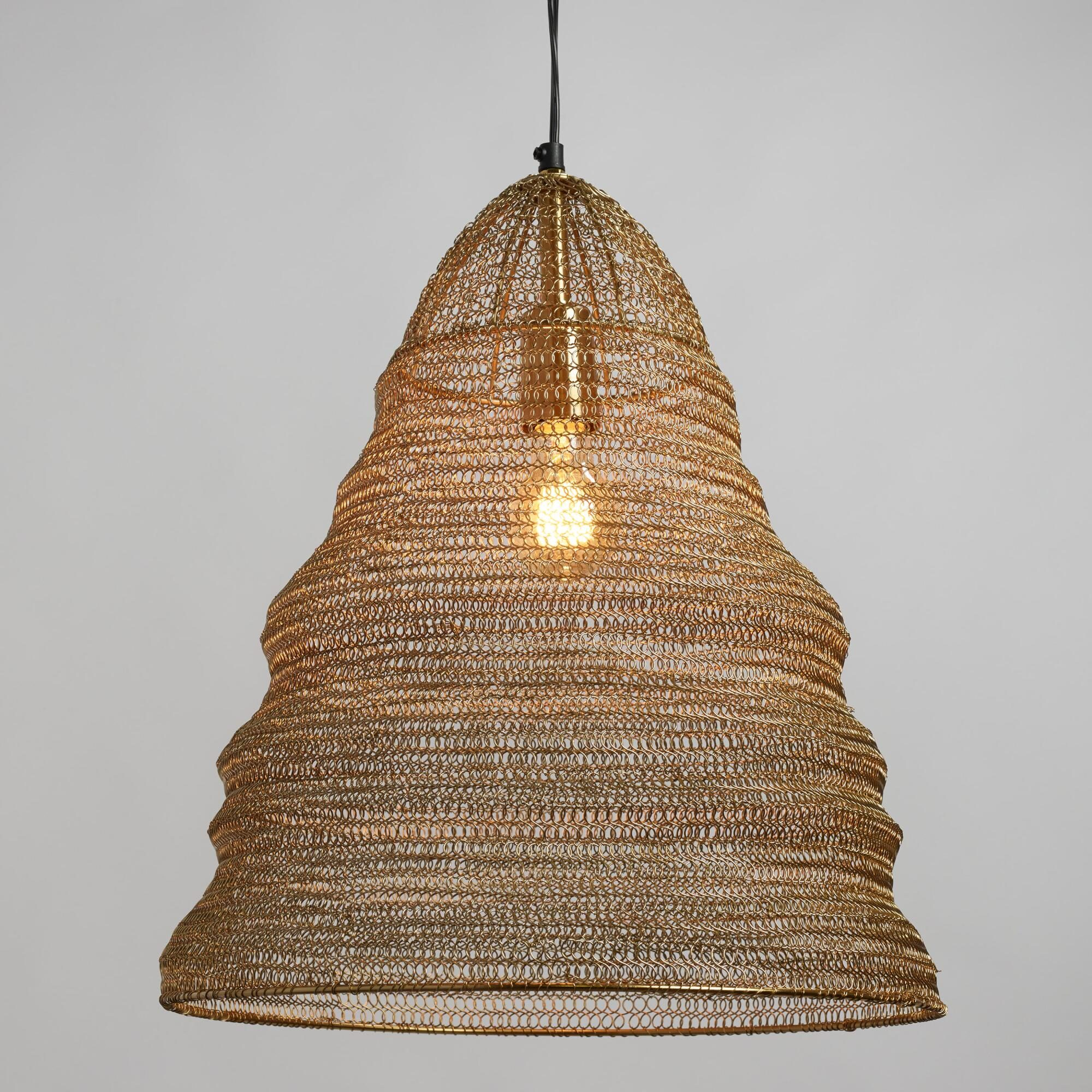 Gold Wire Ring Kiran Pendant Shade by World Market