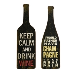Imax 27678-2 Lasalle Wine And Champagne Wall Decor - Set Of 2