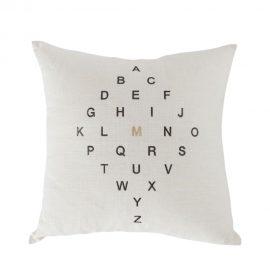 Letter Diamond Pillow